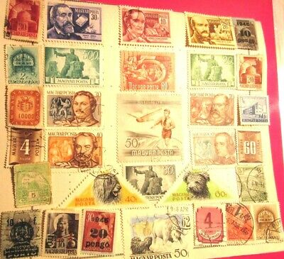 VINTAGE STAMPS (100 PLUS) - MAGYAR (HUNGARY) Incs. 1946/47 And MAGYARORSZAG • 2.50£