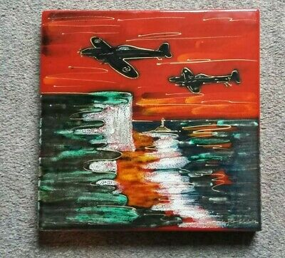 ANITA HARRIS POTTERY ..... Signed Piece  SPITFIRE   White Cliffs Of Dover • 7.99£