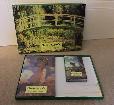CLAUDE MONET Gift Set  Any Year Diary And Notebook In A Box • 3.50£
