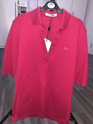 Womens Pink Lacoste Polo Shirt  • 20£