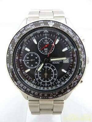 $ CDN214.30 • Buy Seiko Pilot Chronograph V158-0BE0 Solar Authentic Men's Watch Works