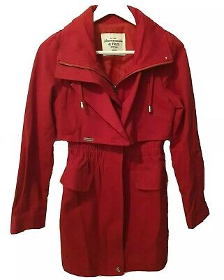 AU20 • Buy Abercrombie And Fitch Hollister Small Red Cotton Jacket