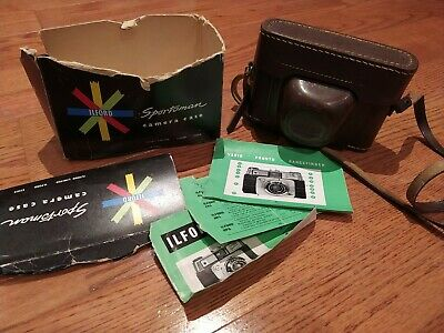 Vintage Ilford Sportsman Western Germany 35mm Film Camera With Leather Case • 11.99£