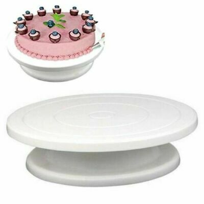 28cm Rotating Deocrating Turntable Cake Icing Revolving Kitchen Display Stand Uk • 6.95£