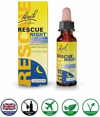 Bach Oral Drops Rescue Night Natural Sleep Insomnia Stress Anxiety Calming 10ml • 5.99£