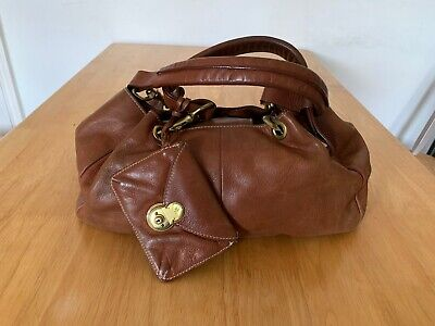 Ralph Lauren Bag, Tan Leather, W/ Brushed Gold Hardware With Pouch Women's • 50£