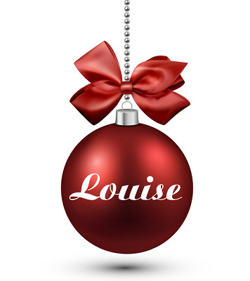 Set Of 2 Personalised Name Decals Vinyl Stickers Christmas Bauble Decoration • 1.99£