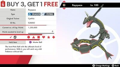$1.95 • Buy ✨ Shiny Rayquaza ✨ Pokemon Sword And Shield Perfect IV 🚀Fast Delivery🚀