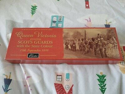 Britains 5991 Scots Guards Colour Party With State Color Metal Toy Soldier Set • 25£