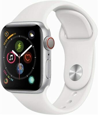 AU329 • Buy Apple Watch Series 4 40mm (GPS + Cellular) Silver With White Band