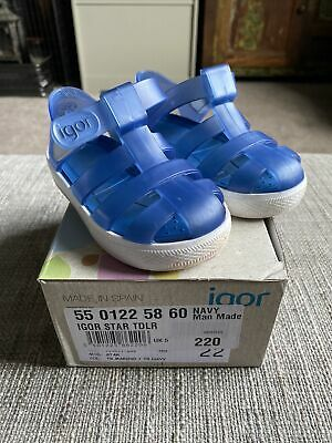 Igor Blue Jelly Infant Shoes Size 5 With Box • 10£