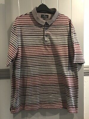 Marks And Spencer Blue Harbour XXL Striped Short Sleeve Polo Shirt • 7.95£