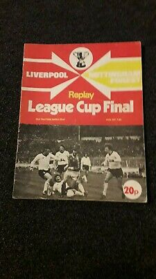 1978 League Cup Final Replay Programme Liverpool V Nottingham Forest  • 4£