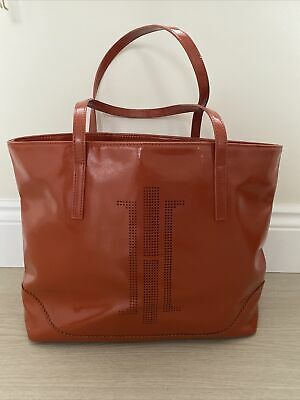 Hobbs London Orange Patent Tote Bag *Stunning* • 26£
