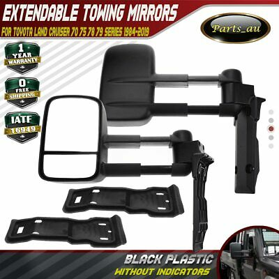 AU382.99 • Buy 2x Manual Extendable Towing Mirrors For Toyota Land Cruiser 70 75 78 79 Series