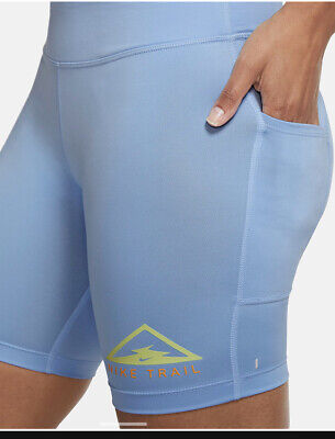 £30 • Buy Nike Trail Women's RUNNING Shorts Tight Fit  CU6262 436 - SMALL  - Blue