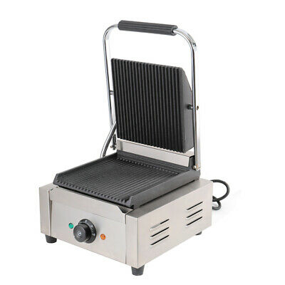 1800W Grooved Panini Press Contact Electric Griddle Sandwich Machine Commercial • 125.95£