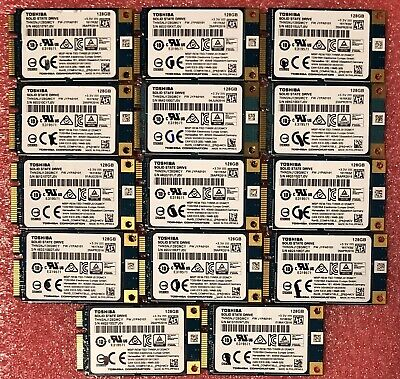 $ CDN436.01 • Buy Lot Of 14x 128GB Toshiba THNSNJ128GMCY 1.8 MSata SSD Laptop