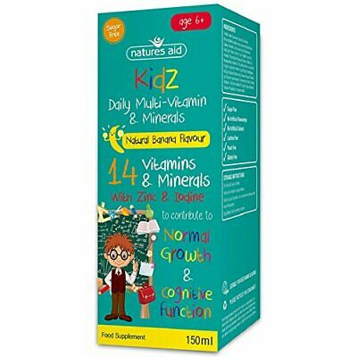 £9.30 • Buy Natures Aid Kids Multi-Vitamin And Minerals Formula For Children (150 Ml