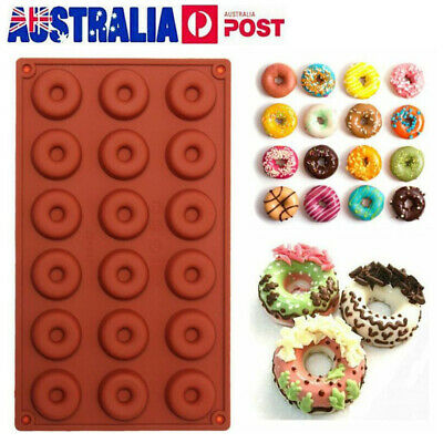 AU11.89 • Buy 8/18 Cavity Doughnut Baking Mold Tray Silicone Cake Chocolate Candy Soap Mould