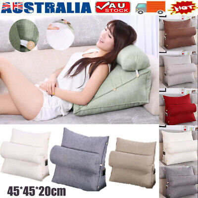 AU29.25 • Buy Adjustable Back Wedge Cushion Pillow Sofa Bed Office Chair Rest Neck Support OZ