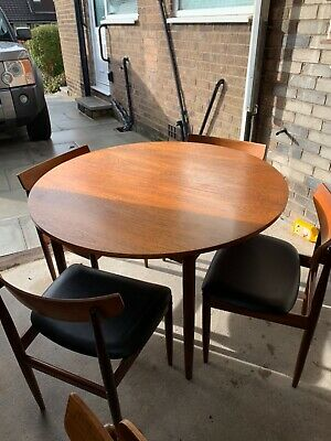 G Plan 1960's Extendable Dining Table And Chairs • 66£