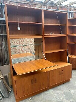 G Plan Vintage Retro Teak Wall Display Unit Cabinet With Shelves 1970s • 0.01£