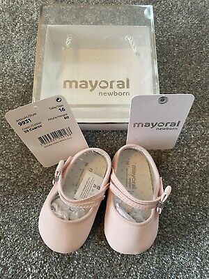 Mayoral Baby Shoes Mary Jane Newborn 16 Pink • 2.10£