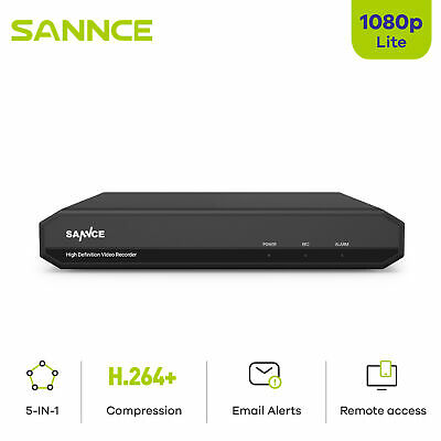 AU92.99 • Buy SANNCE 16CH HD 1080P HDMI DVR Video Recorder For CCTV Security Camera System APP