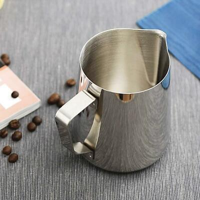 £4.68 • Buy Steel Milk / Coffee Frothing Jug Frother Latte Metal Pitcher K2A3