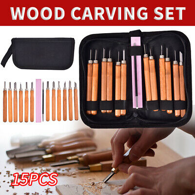 £7.59 • Buy 15PCS Wood Carving Hand Chisel Kit Woodworking Knife Set Alloy Cutter Chisels