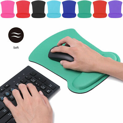 Office Mouse Pad With Wrist Rest Support Anti-Slip Mice Mat For Laptop PC UK • 2.69£