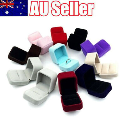 AU9.99 • Buy Squre Velvet Earrings Ring Box Wedding Jewelry Displays Storage Case Gifts Boxes