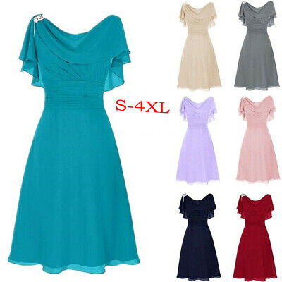 AU34.01 • Buy Women Formal Wedding Bridesmaid High-waist Party Ball Prom Gown Cocktail Dresses