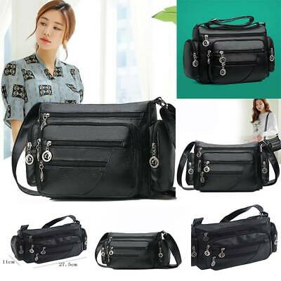 $ CDN16.58 • Buy Messenger Bag Black Women Crossbody Bags Soft Handbags Purse Single Shoulder Bag