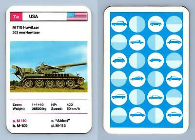 $1.37 • Buy M 110 Howitzer - Tanks 1970's Dubreq Series 1 Top Trumps Card