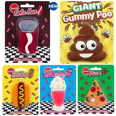 Giant Gummy Sweets Retro Cola Can Ice Cream Pizza Hot Dog Novelty Christmas Gift • 4.74£