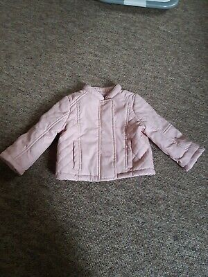 Baby Girls Pink Leather Jacket. • 1.50£