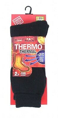 Mens Heat Max Thermo Thermal Hick Ultimate Thermal Socks,Heat Holding 2.3Tog Lot • 5.98£