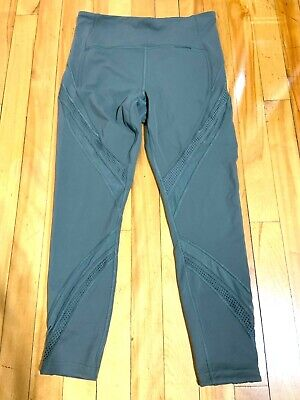 $ CDN70 • Buy Lululemon Double Mesh Leggings 25 Inch Green Size 10 EUC