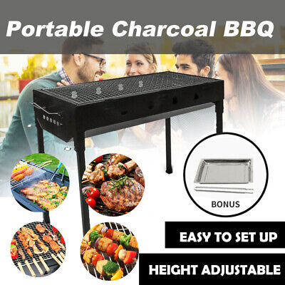 AU48 • Buy Portable BBQ Grill Charcoal Smoker Outdoor Barbecue Steel Roaster Camping Picnic