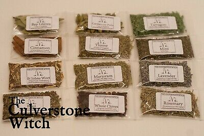 Herb Sachets Box Set Of 12 - Witch Wicca Pagan Witchcraft Charm Spells Ritual • 6.99£