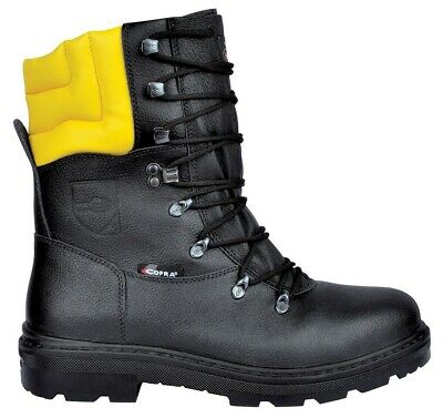 Cofra Woodsman BIS Chainsaw Protection Class 1 Black Steel Toe Cap Safety Boots • 59.95£