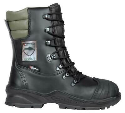 Cofra Power Chainsaw Cut Resistant Leather EN381 Class 2 S3 Work Safety Boots • 94.95£