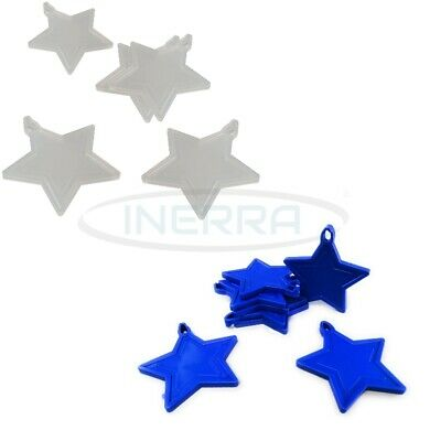 £3.99 • Buy Star Balloon Weights For Helium Balloons - Multipack - Clear & Royal Blue