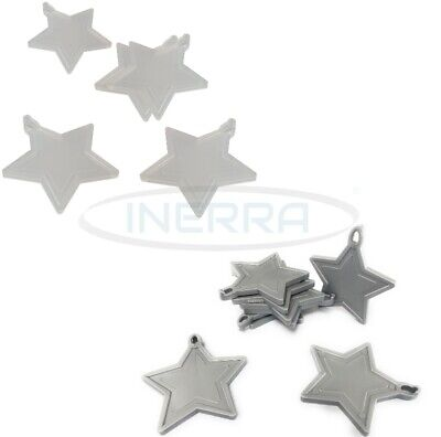 £3.99 • Buy Star Balloon Weights For Helium Balloons - Multipack - Clear & Silver