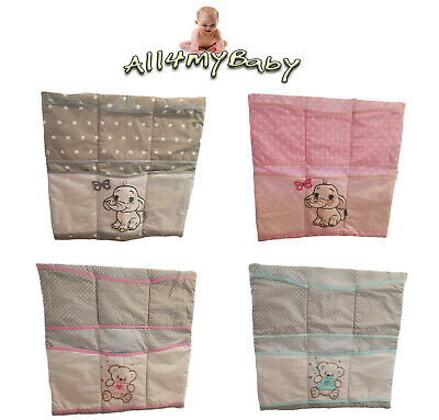 £9.99 • Buy EMBROIDERED Nursery BABY COT/COTBED TIDY ORGANISER Hanging Storage 100%Cotton