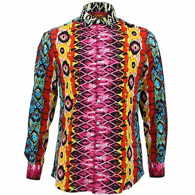 £19.95 • Buy Mens Shirt Loud Originals TAILORED FIT Snakeskin Pink Retro Psychedelic Fancy