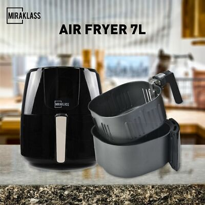 AU98.90 • Buy Miraklass Air Fryer 7L LCD Fryers Oven Airfryer Cooker Kitchen Healthy Oil Free