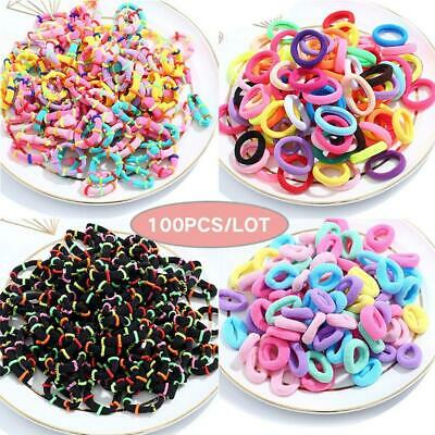 $ CDN3.27 • Buy 100pcs/lot Kids Small Hair Rope Scrunchy Elastic Girls Rubber Band Hair Ties NEW